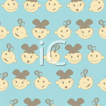 Background Design of Baby Faces Boys and Girls