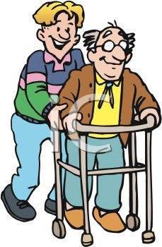 assistant helping an old man using a walker royalty free clipart rh clipartguide com  old people clip art images
