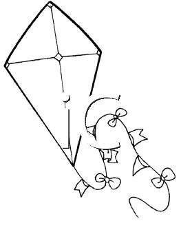 Kite Coloring Page Royalty Free Clipart Image