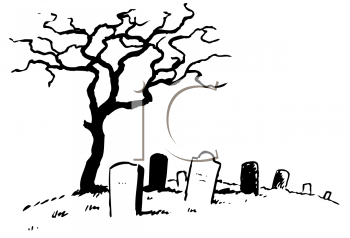 black and white line drawing of a dead tree in a graveyard royalty rh clipartguide com cemetery gate clipart cemetery gate clipart