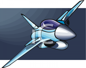 Royalty free clipart image: military warfare jet