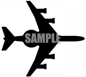 Fighter Plane with Guns Silhouette