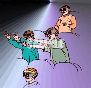 People at a Theater Watching a Movie with 3D Glasses