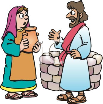 Biblical Man and Woman Speaking by a Well