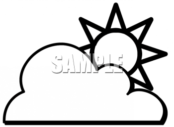 Partly Cloudy and Partly Sunny Weather Symbol
