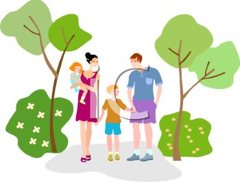 family taking a walk in the park together royalty free clip art rh clipartguide com clipart family tree clip art families together