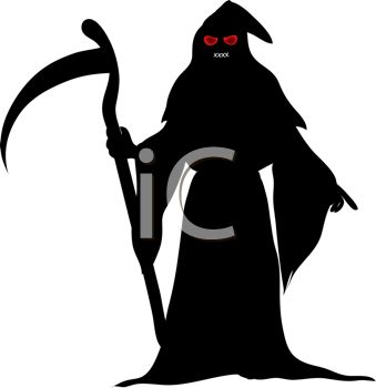 death the grim reaper with scythe or sickle royalty free clip rh clipartguide com grim reaper clip art free