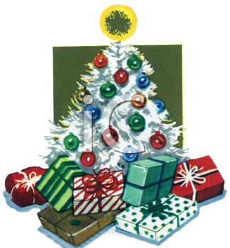 Retro Christmas Tree With Wrapped Gifts Under It Royalty Free Clip Art Image Download high quality vintage christmas cartoons from our collection of 41,940,205 cartoons. retro christmas tree with wrapped gifts