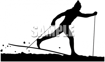 Silhouette of a Cross Country Skier