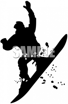 Silhouette of a Snowboarder Getting Air