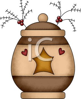 Royalty Free Clip Art Image Rustic Christmas Design Of A Cookie Jar
