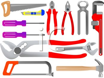 Tools Including Saws, Pliers, Wrenches, Screwdrivers and a Hammer