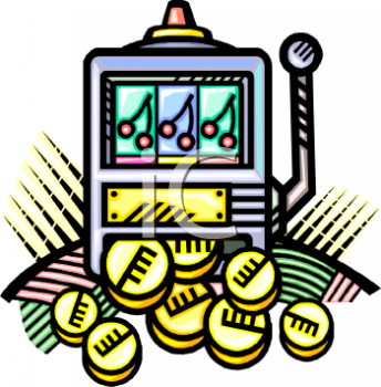 Slot Machine with a Winning Jackpot of Coins