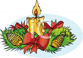 Royalty Free Clipart Image: Christmas Holiday Centerpiece of Pine ...
