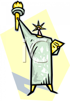 royalty free clip art image statue of liberty rh clipartguide com clipart of lady liberty statue of liberty clipart black and white