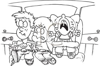 Kids Fighting in the Back Seat of the Car