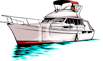 royalty free clip art image pleasure boat yacht rh clipartguide com boating clipart images boating clipart free