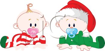 babies dressed for christmas royalty free clip art illustration rh clipartguide com clipart babies playing babies clipart free