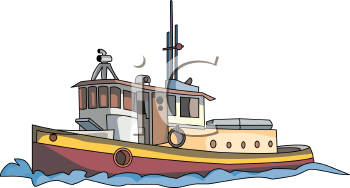 Realistic Tugboat Drawing