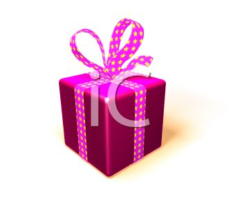 3D Gift Tied with a Bow