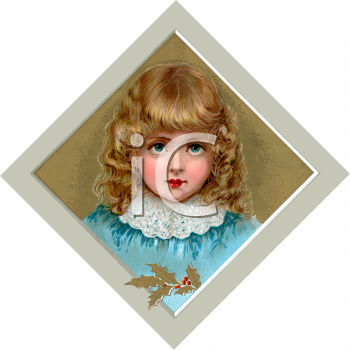 Little Victorian Girl with Golden Ringlets