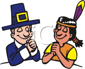 pilgrim and native american indian praying on thanksgiving royalty rh clipartguide com indian clipart to print indiana clipart