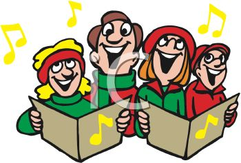 Group of Christmas Carollers