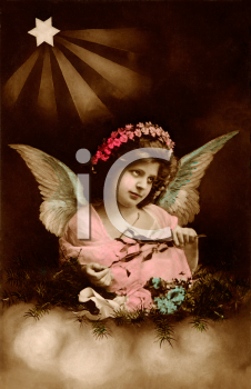 Child Angel with a Crown of Flowers