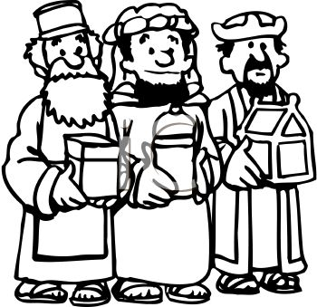 cartoon of the three wise men bearing gifts royalty free clip art rh clipartguide com wise men clip art free christmas wise men clip art free christmas