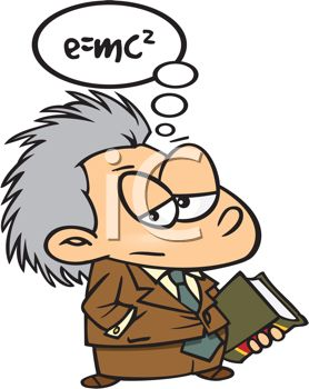 Cartoon of a Really Smart Guy with Gray Hair