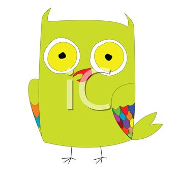 Funny Cartoon Owl