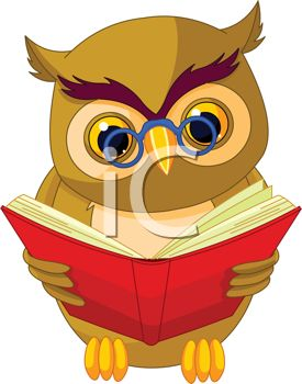 Wise Old Owl Reading a Book