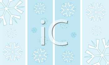 Simple Snowflakes Background Design
