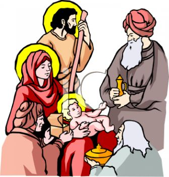 Three Wise Men, Joseph and Mary, and the Baby Jesus