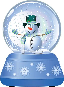 snow globe with snowman royalty free clip art picture