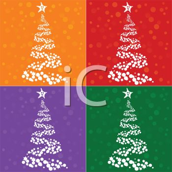 Digital Collection of Christmas Tree Tiles