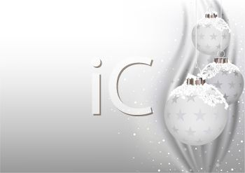 Winter White Christmas Ornaments Background