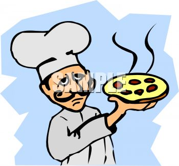 Mustachioed Pizza Cook