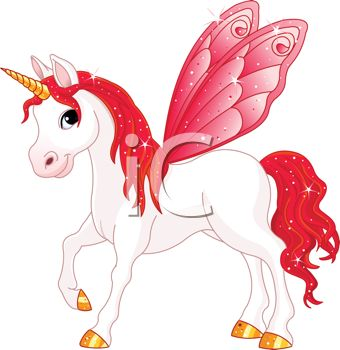 Pegasus Unicorn with Red Wings