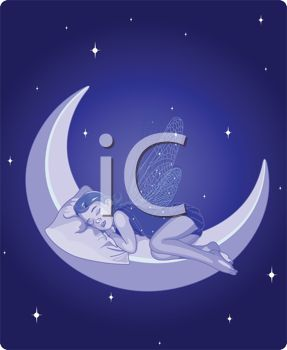 Faerie Sleeping on the Moon