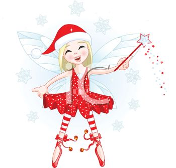 Christmas Faerie with Her Wand