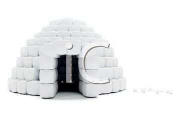 3D Igloo Ice House - Royalty Free Clip Art Picture