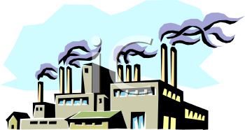 industrial factory with smokestacks royalty free clipart image rh clipartguide com clipart factory png factory clipart free