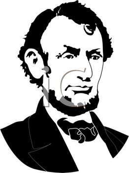 Silhouette of Abraham Lincoln