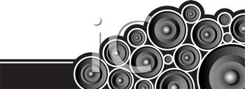 audio speakers clipart. audio recording design element with speakers - royalty free clip art image clipart