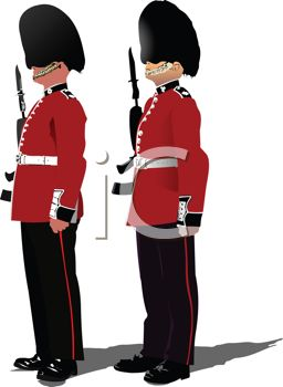 Queens Guards Standing at Attention