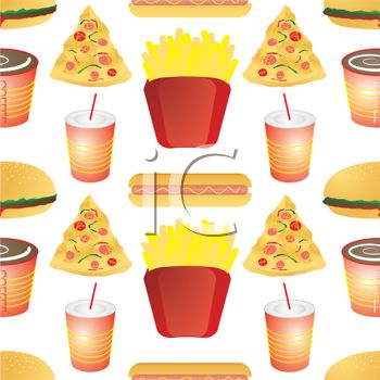 Royalty Free Clipart Image Junk Food Wallpaper Background