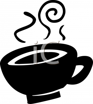 silhouette of a cup of hot coffee royalty free clip art picture rh clipartguide com coffee mug free clip art coffee clipart free