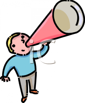 cartoon of a little boy using a megaphone royalty free clip art image rh clipartguide com free cheerleading megaphone clipart free cheer megaphone clipart