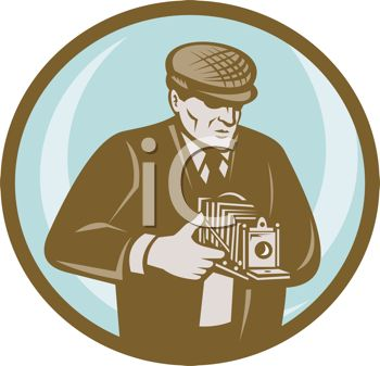 Occupation Icon of a Vintage Photographer